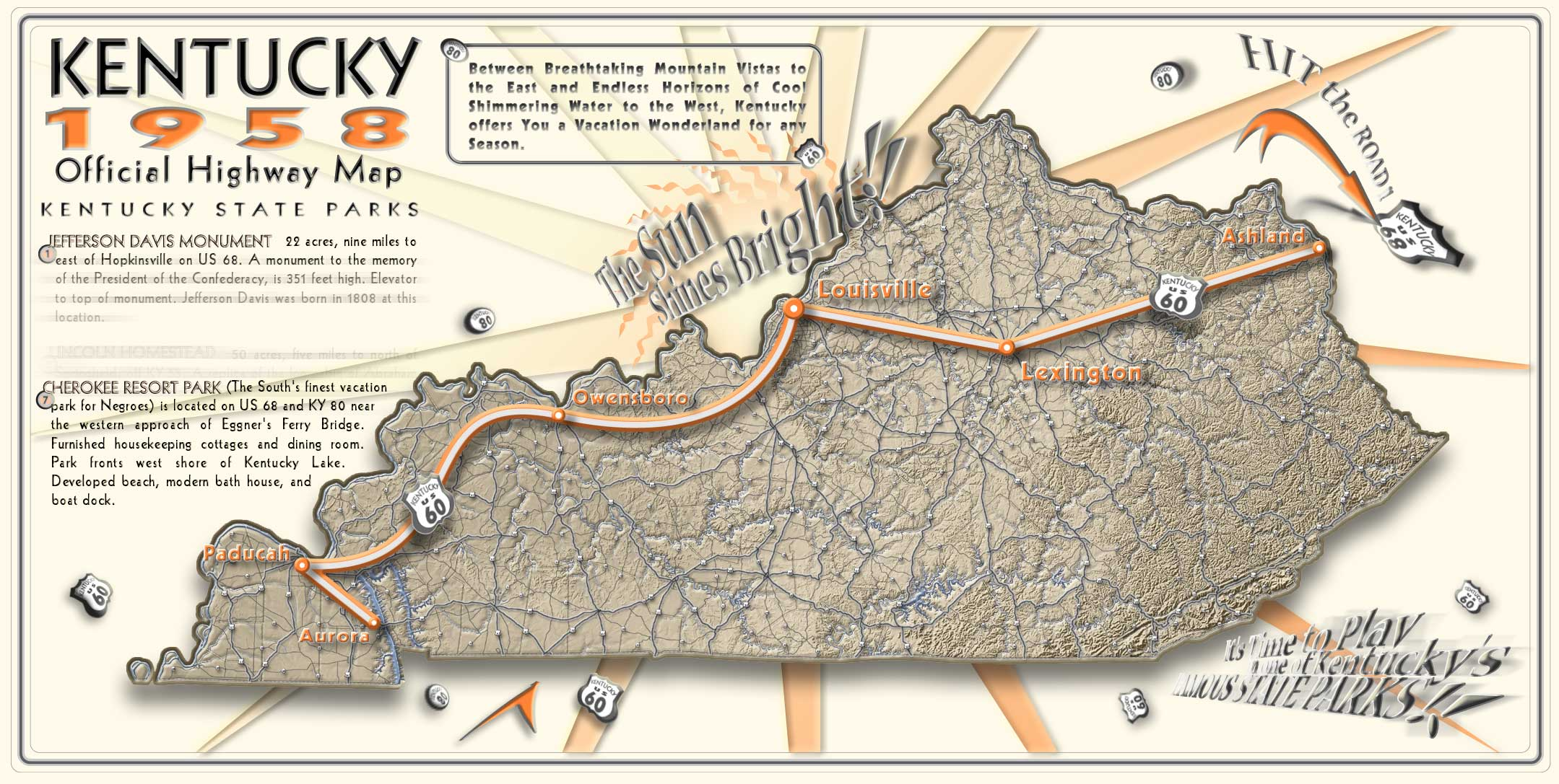 Western Us Highway Map - Us 68 map