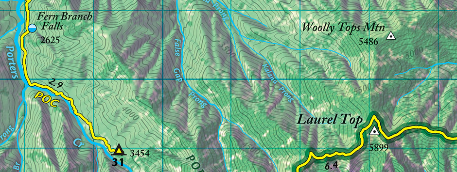 Great Smoky Mountains Trail Atlas :: outrageGIS mapping