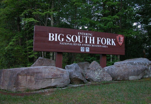 Entrance to Big South Sign.
