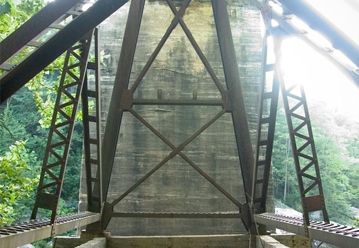 O&W Bridge foundation