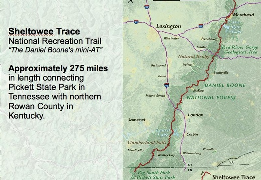 Sheltowee Trace, 275-mile hiking trail