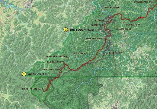 Section 1-2: Rock Creek and Big South Fork