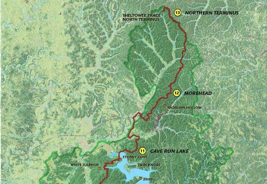 Sections 11-13: Cave Run Lake, Morehea, & Northern Terminus
