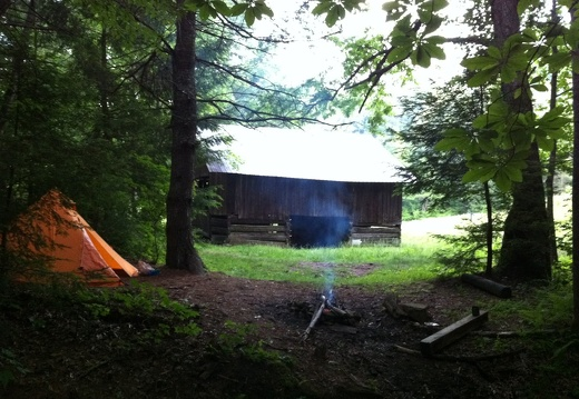 Camp at Litton & Slaven Farmstead, Big South Fork - 34