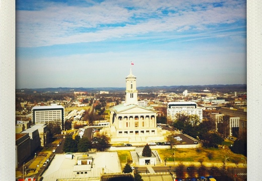 Tennessee State Capitol with Occupy Nashville