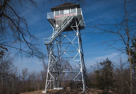 Restored Pinnacle fire tower