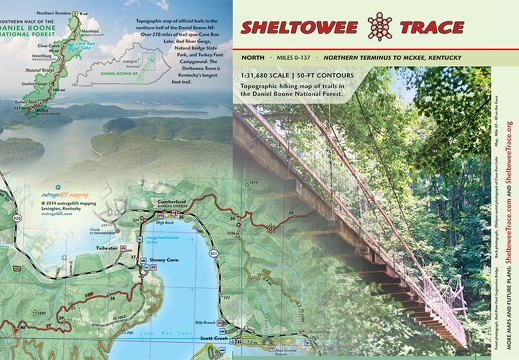 North Sheltowee Trace Map