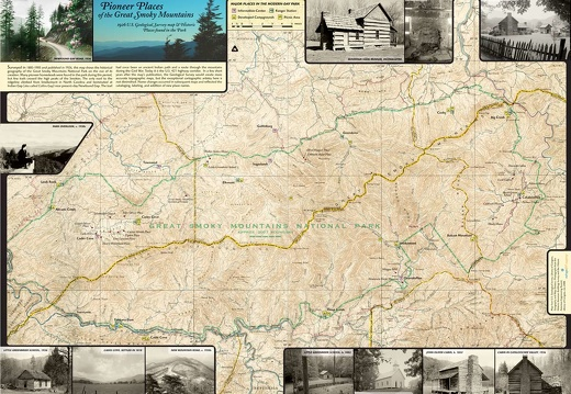 1926 Historic U.S. Geological Survey of the Great Smoky Mountains