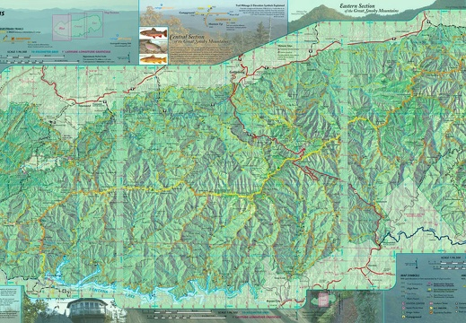 Great Smoky Mountains GPS Trail Map