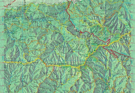 Central Section of the Great Smokies trail map