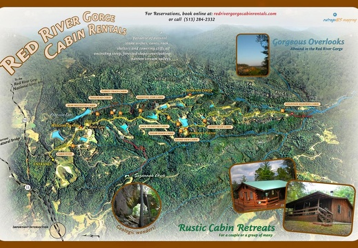 3D Red River Cabins Map - Oct, 2007