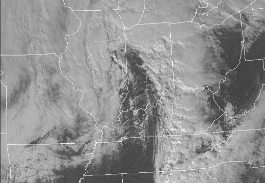 Visible Satellite: February 11, 2009 Wind Storm