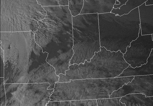Visible Satellite: February 11, 2009 Interesting clouds after storm