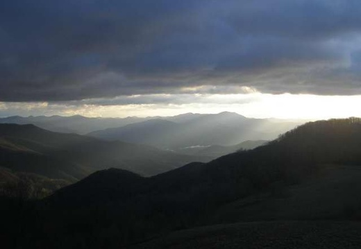 Apr 20: Low clouds in the Great Smokies