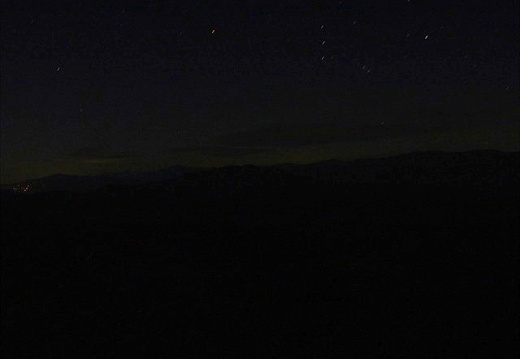 Orion rises in the Smokies.