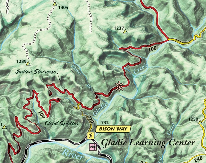 Red River Gorge Topographic Map.All About Red River Gorge Online Kidskunst Info