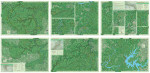 """The Sheltowee Trace South is a six-panel 27"""" x 19"""" map that includes the Big South Fork."""