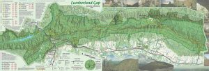 2016 Cumberland Gap trail map, hiking information