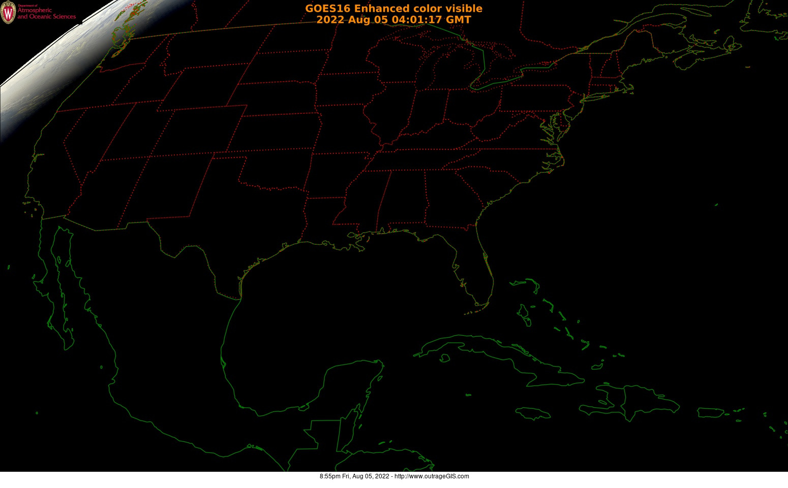 New GOES Satellite Imagery For Kentucky - Current satellite maps