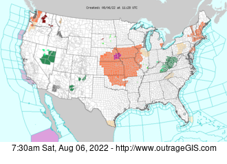 Current National Weather Service watches and warnings.